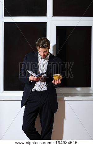Bearded Businessman With Notebook