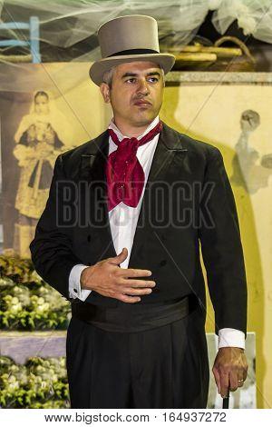 QUARTU S.E., ITALY - September 20, 2015: So dressed in Quartu - parade of costumes and period clothing - Sardinia
