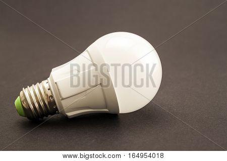 Glowing LED lamp isolated on dark background