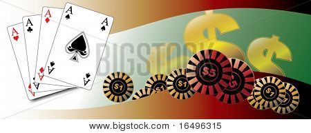 playing cards / poker / win / luck / gambling / in vector