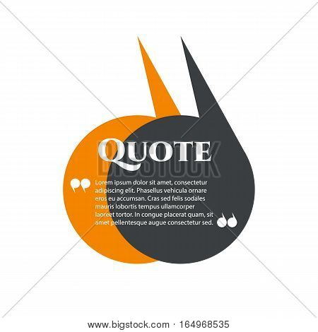Vector quote boxes with text isolated. Commas, message, blank, template, bubble, form Brackets quotation marks