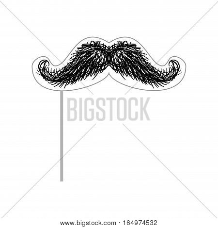 Mustache On Stick Mask For Photographing. Accessory Photoshoot