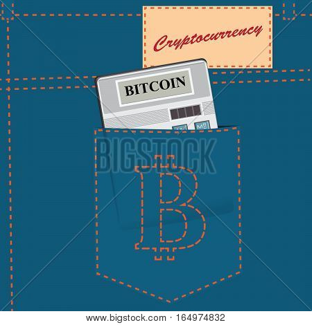 The poster of the new cryptocurrency - Bitcoin.