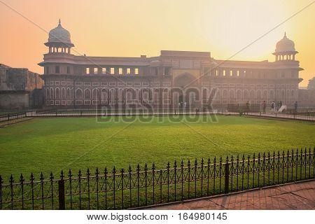 Jahangiri Mahal In Agra Fort At Sunrise, Uttar Pradesh, India