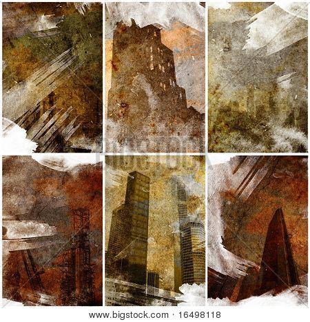 urban retro grunge texture series