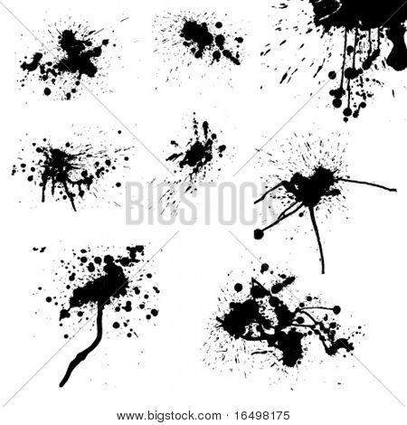 vector ink drops / paint splash
