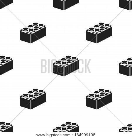 Building block black icon. Illustration for web and mobile.