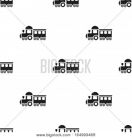 Locomotive black icon. Illustration for web and mobile.