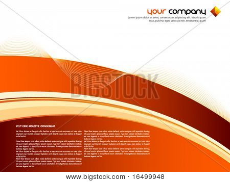 Clean Autumn Theme Vector Design