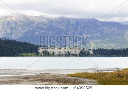Lake Louise, Canada - September 6, 2016: Chateau Lake Louise On