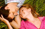 pic of love couple  - Young love Couple smiling - JPG