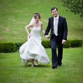 pic of wedding couple  - young wedding couple  - JPG