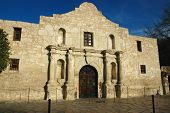 picture of texans  - The original Alamo misison in the heart of San Antonio Texas symbol of Texan independence - JPG