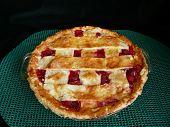 Cherry Pie On Green