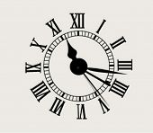 image of tick tock  - antique clock face  - JPG