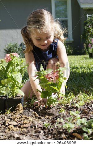 Girl in sunny garden 03