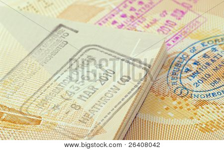 immigration stamps