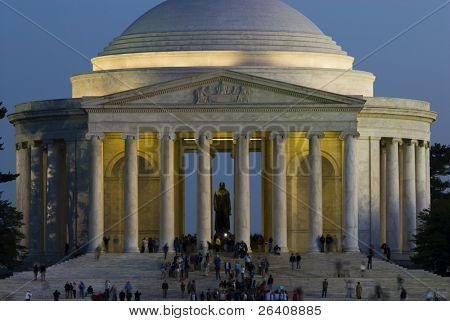 Jefferson Memorial night Washington DC travel series 40