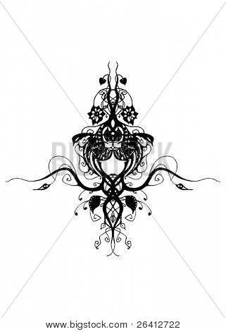 floral design vector illustration scalable change the color & size as you wish