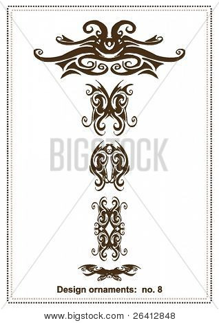 abstract vector design elements ,borders ,frames, retro,tribal ,floral tatoo,ornaments,part of a 100 pieces collection,check my gallery for other pieces of this collection