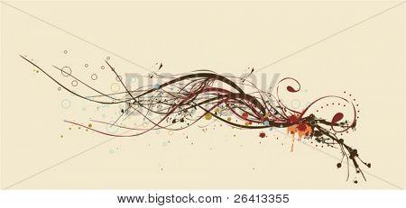 Ilustración floral abstracto, vector