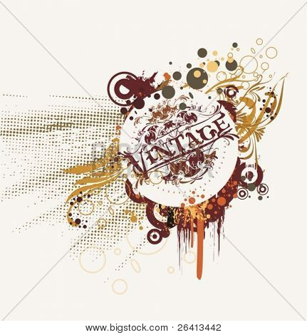 vintage abstract ornaments,vector ilustration