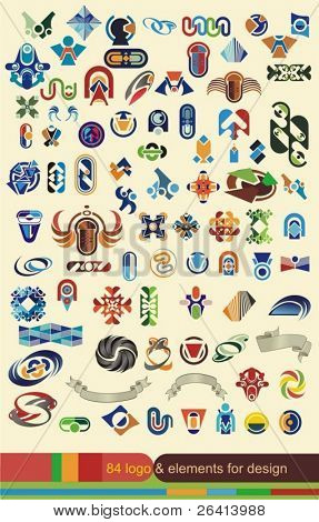 graphic design elements,banners collection, 84 pieces