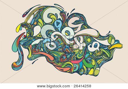 vector abstracto ornamento