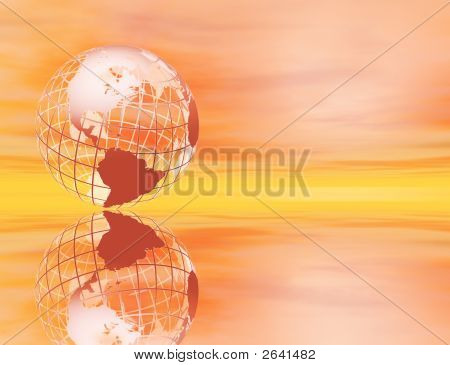 Earth At Sunset