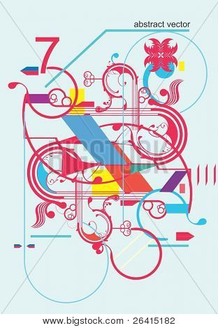abstract design elements,vector illustration