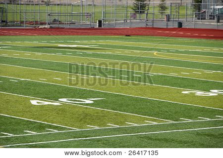 A new astro turf foot ball field