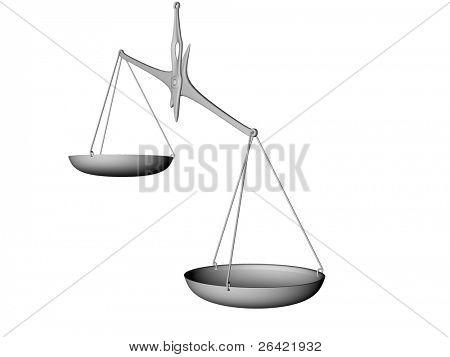 balance isolated on white