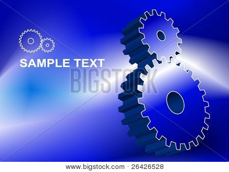 two abstract pinion