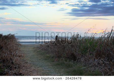 Nascer do sol pôr do sol de praia