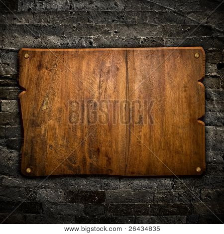 old wood board on wall