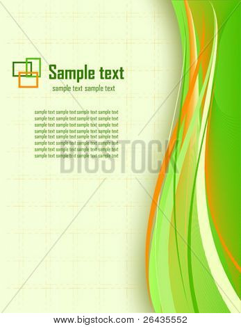 Vector of abstract business card