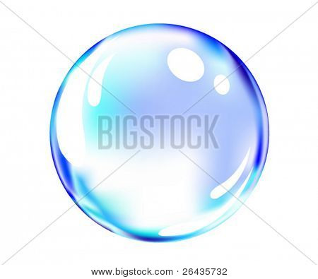 vector of shiny blue ball