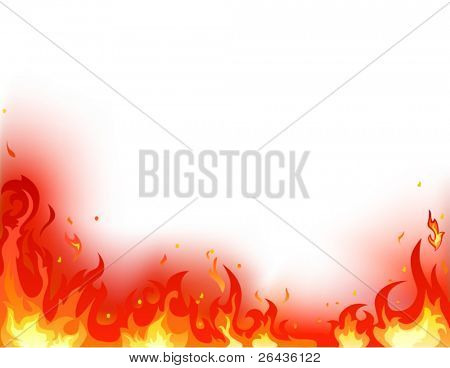 flame on a white background