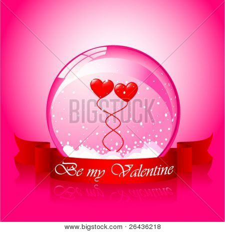 Vector of valentine's hearts