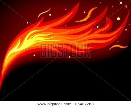 Lengua de llama de fuego
