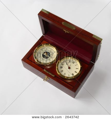 Vintage Barometer And Watch
