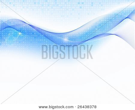 Vector of abstract background with blue wave