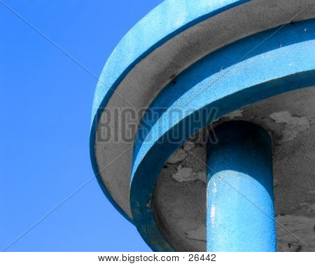 Blue Watch Tower Detail