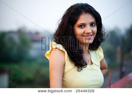 Smile of beautiful Indian girl