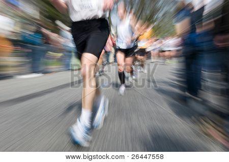 Marathon Racer. Von der ursprünglichen Aufnahme Weichzeichnen