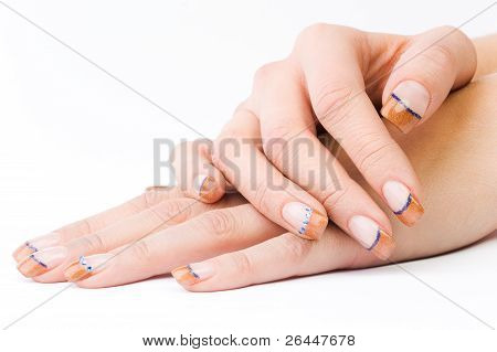 Female Colored Fingernails
