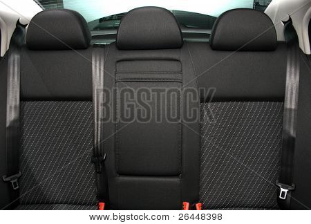 Back passenger seats in a modern car