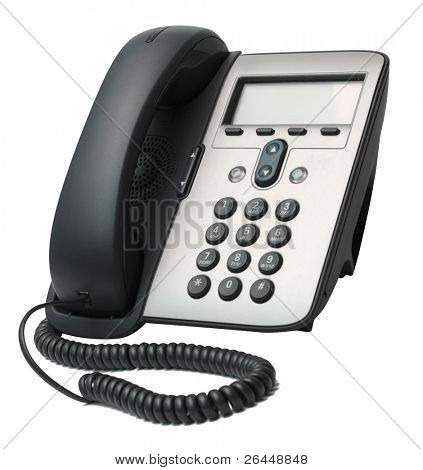 Modern VoIP Phone isolated on white background