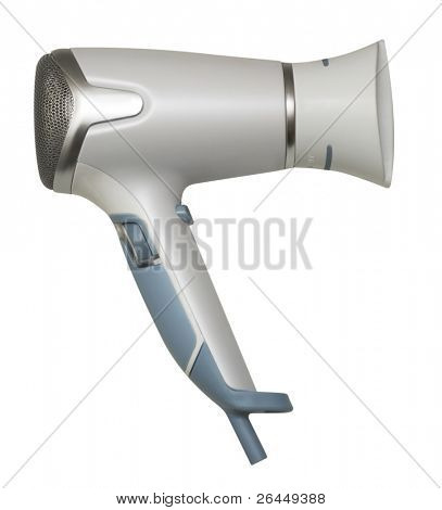Hair drier isolated on white background