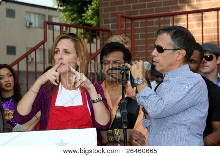LOS ANGELES - NOV 30:  Marlee Matlin, Jack Jason at the Hollywood Chamber Of Commerce 17th Annual Police And Fire BBQ at Wilcox Station on November 30, 2011 in Los Angeles, CA